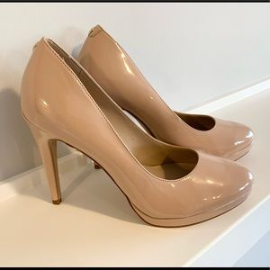 ALDO - Nude Platform Heels.